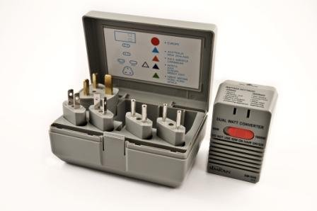 Vct - Universal Foreign Travel Voltage Converter & Plug Adapter Kit Works In Almost All Foreign Countries