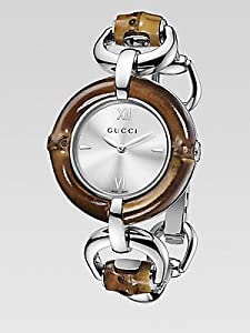 b46380d01ea Buy Gucci Bamboo and Steel Bangle Ladies Watch YA132403 from Amazon at  £645.00