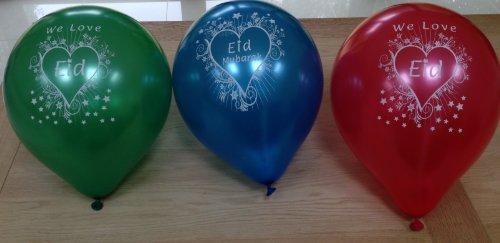 Desert Dress Pack 10 Eid Round Balloons Happy Decoration Gift Party Islam Celebration Mubarak Desert Dress