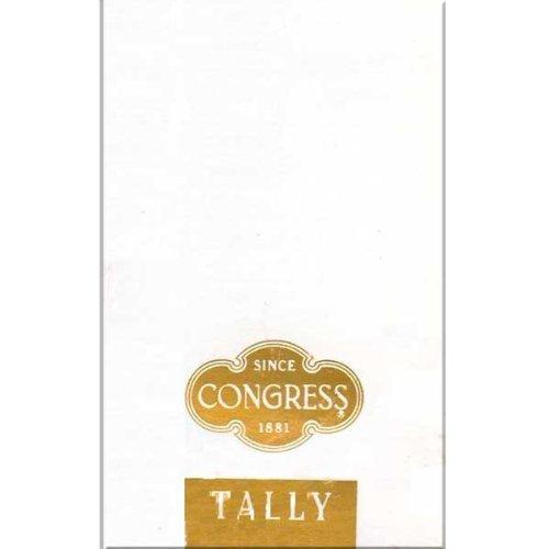 Congress White and Gold Bridge Tallies - 1