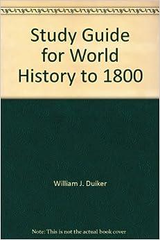 HISTORY STUDY GUIDE WORLD