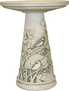 Burley Clay Chickadee Bird Bath Set