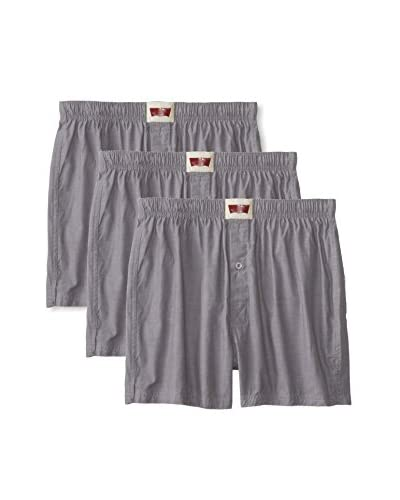Levi's Men's Chambray Woven Boxer - 3 Pack