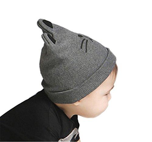 Uomini Ragazzi Moda Autunno Inverno Gatto Cappello A Maglia Bambino Bambini Cappello Berretto Grigio