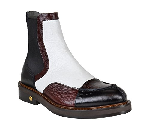 Versace Mens Leather Multicolor Ankle Boots