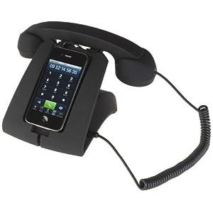 Stazione telefono nero per iPhone
