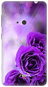 The Racoon Lean dewy petals purple hard plastic printed back case / cover for Nokia Lumia 625