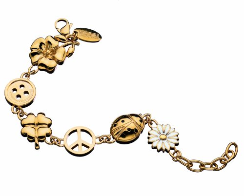 Moschino MJ0073 Good Luck Stainless Steel Gold IP Bracelet