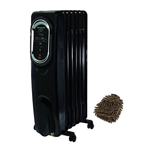 Honeywell Energysmart Electric Radiator Whole Room Heater (Complete Set) w/ Bonus: Premium Microfiber Cleaner Bundle (Honeywell Heater Radiator compare prices)