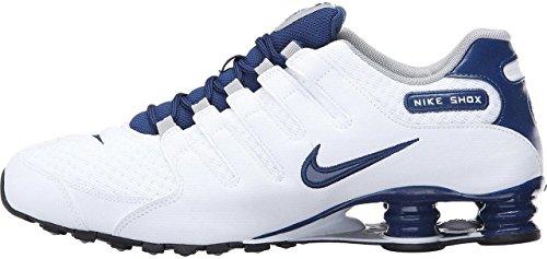 Nike SHOX NZ SE mens running-shoes 833579-104_9.5 - WHITE/COASTAL BLUE-COASTAL BLUE