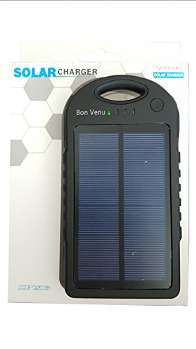 Bon Venu 12000mah Dual USB Shockproof Solar Charger, Black