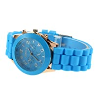 YKS Unisex Geneva Silicone Jelly Gel Quartz Analog Sports Wrist Watch watches gift for women men lady ladies girl from YKS