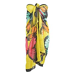 Pink Flamingo Multipurpose Butterfly Beach Sarongs
