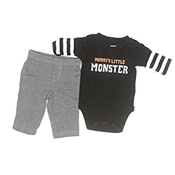 Mommy's Little Monster 2 Piece Pant Set (Newborn)