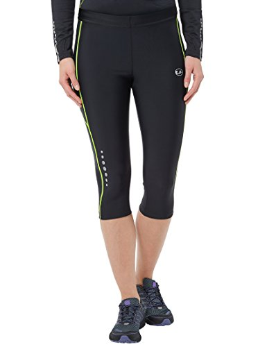 ultrasport-quick-dry-pantalon-de-course-femme-noir-jaune-fluo-fr-m-taille-fabricant-m