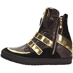 4US CESARE PACIOTTI IIAD10 Sneakers Donna Pelle Nero/Oro