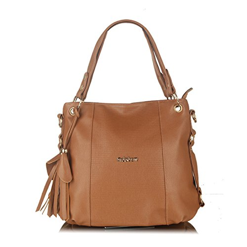 Koson-Man, Borsa tote donna, Brown (marrone) - KMUKHB119-03