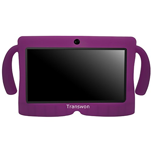 Transwon 7 Inch Android Tablet Case for NPOLE 7 Inch Tablet, Alldaymall A88X, Dragon Touch Y88X Plus 7, Chromo Inc 7 Inch Tablet, NeuTab N7s Pro, Autobeyond 7inch, Tagital T7X, iRULU eXpro X1 7 - Purple (Chromo Inc 7 Inch Tablet Charger compare prices)