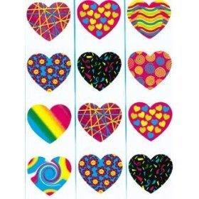 Heart Stickers - 1 1/2 inch (100/ROLL) - 1