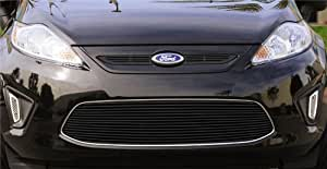 Black Finish Billet Bumper Grille Overlay for Ford Fiesta: Automotive