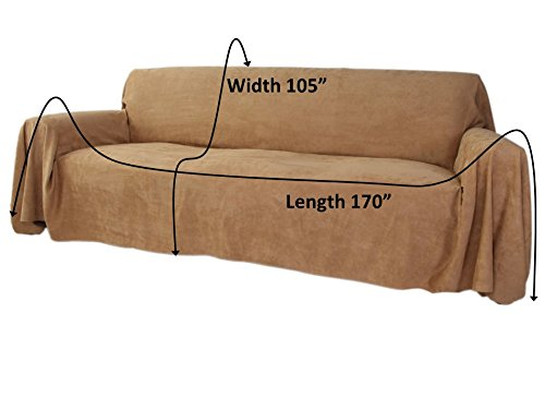 Floppy ears design simple faux suede microfiber couch for Suede sofa cover minimalist design