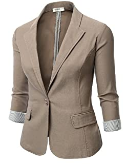 J.TOMSON Womens Tailored Boyfriend Blazer