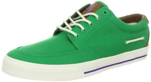Polo Ralph Lauren Men'S Vance Side Lace Sneaker, Green/Red, 8 D Us