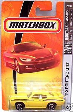 Matchbox '70 Pontiac GTO Heritage Classics light yellow #10 - 1