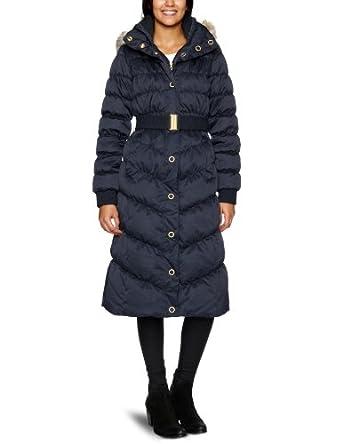 esprit damen langmantel k21893 kapuze gr 10 blau marine bekleidung. Black Bedroom Furniture Sets. Home Design Ideas