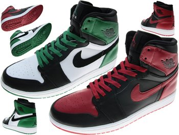 "Nike Air Jordan DMP 1 Retro High "" Bulls vs Celtics "" Mens Basketball Shoes 371381-991"