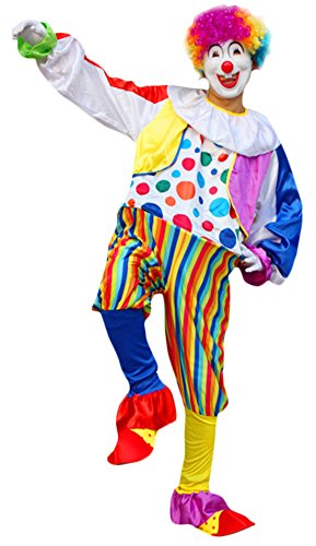 Ace Halloween Adult Men's Funny Fancy Clown Costume Full Set