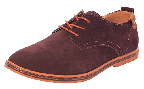 serene-mens-casual-leather-lace-up-soft-breathable-fashion-oxfords-105dmus-coffee