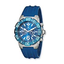 Charles Hubert Stainless Steel Blue/Blue Chronograph Watch
