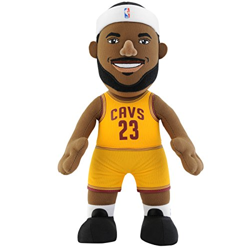 "NBA Cleveland Cavaliers LeBron James Plush Figure, 10"", Gold"