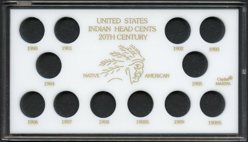 Capital Plastics United States Indian Head Cents 20th. Century Coin Holder - White