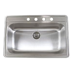 Topmount Stainless Steel Kitchen Sink Single Bowl