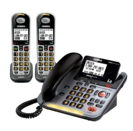 Uniden D3098-2S Corded/Cordless Amplified with 2-Handset