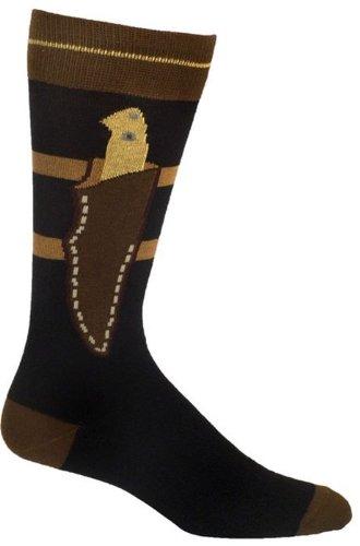 Ozone Design Men's-Unisex Boot Knife Sock,Black,One Size