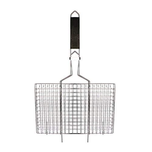 AccMart Nonstick Fish Grilling Basket Folding for Roast BBQ Barbecue with Wood Handle (Grill Cage compare prices)
