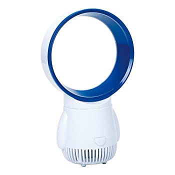 USB対応 卓上羽なし扇風機 Mini Bladeless Fan ブルー COOL-B40033