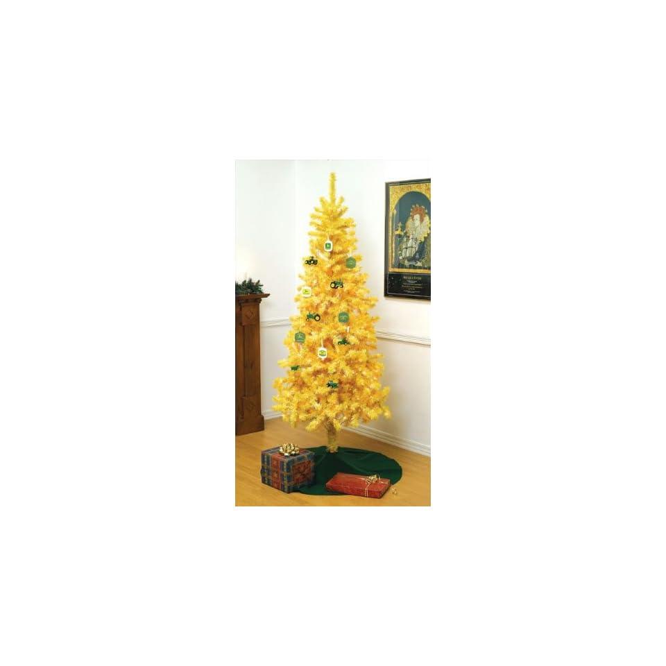 7 ft John Deere Yellow Christmas Tree