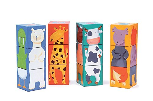 Djeco-12-Color-Animal-Blocks