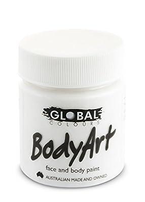 Global Body Art Face Paint - Liquid White 45ml
