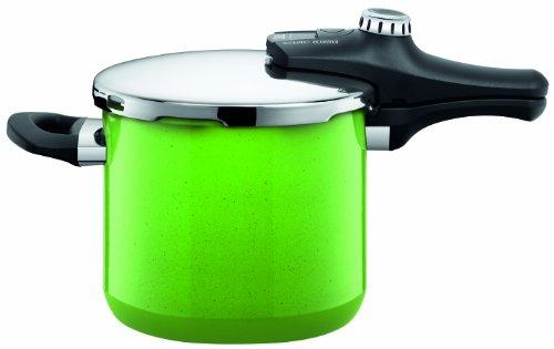 Silit Sicomatic econtrol 8607171711 Pentola a pressione 6,5 l, senza inserto, colore: Verde limone