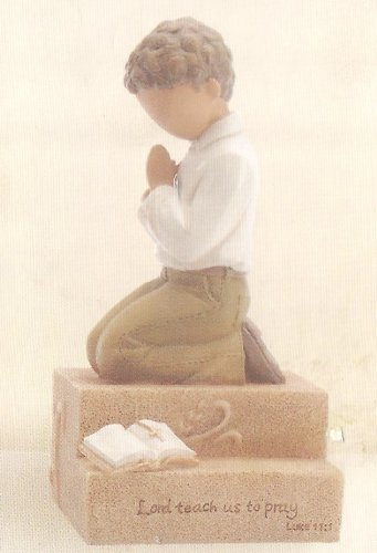 Kim Lawrence Praying Child Gregg Gift Company Enesco Boy Figurine (Gregg Gift Company compare prices)