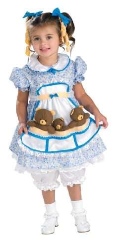Rubies Goldilocks Costume Toddler Multicolored