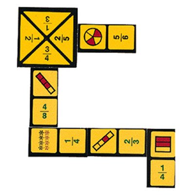 "Learning Advantage 4080 The Original Fraction Dominoes Game, Grade: 3 to 7, 6.5"" Height, 1.5"" Width, 4"" Length"