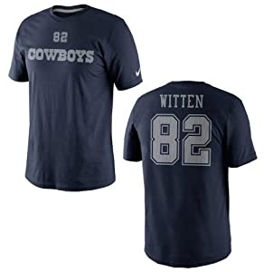 Dallas Cowboys Jason Witten Tee 2 Nike Navy Name and Number T-Shirt by Nike