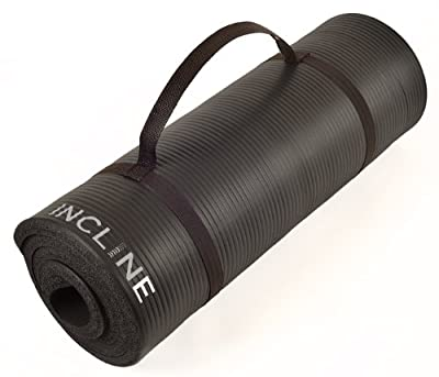 Incline Fit Extra Thick and Long Comfort Foam Yoga/Exercise Mat with Carrying Strap