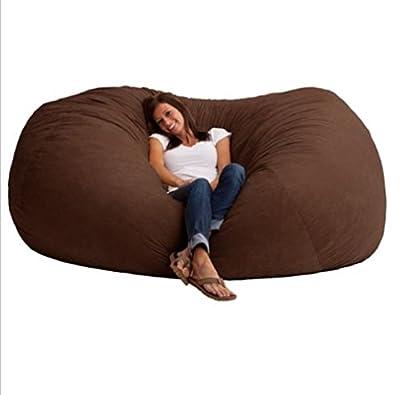 Big Joe 7-Foot XXL Covered in soft, durable fabric Great for basements, bedrooms, dorm rooms Fuf in Comfort Suede, Espresso